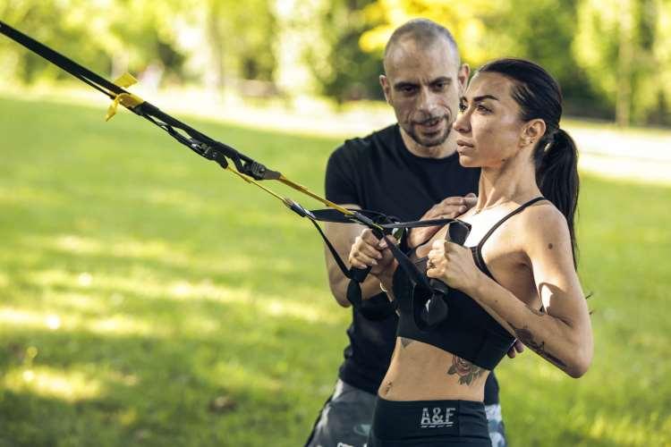 trx all' aperto, per un allenamento divertente ed efficace